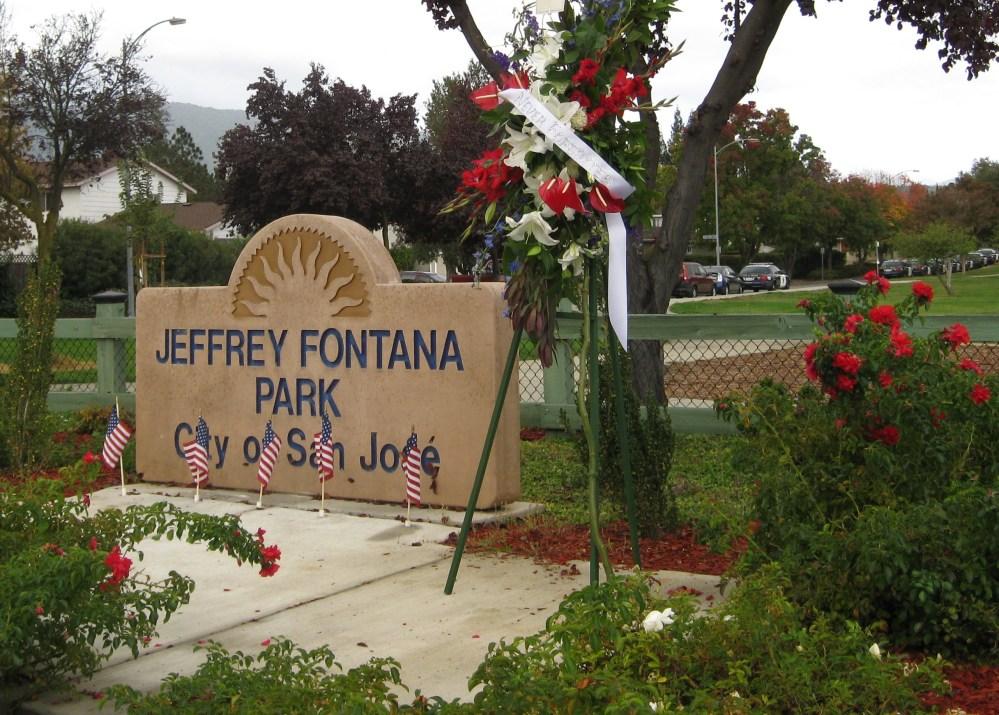 SJPD Officers gather at Jeffrey Fontana Park (2/3)