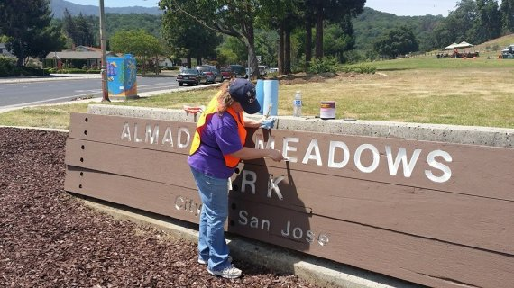 Almaden Meadows sign