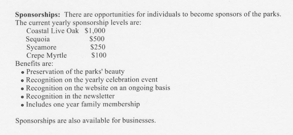 Membership/Sponsorship (2/2)
