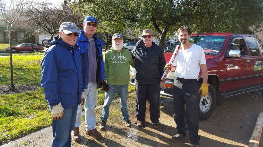 The fence crew from left to right. Richard Grialou, Larry Sasscer, Sunny Wagstaff, Pat Pizzo, and Dave Poeschel.