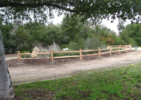 The new fence around Island C in Jeffrey Fontana Park.
