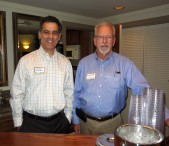 Volunteer bartenders Robert Braunstein & Greg Caillat