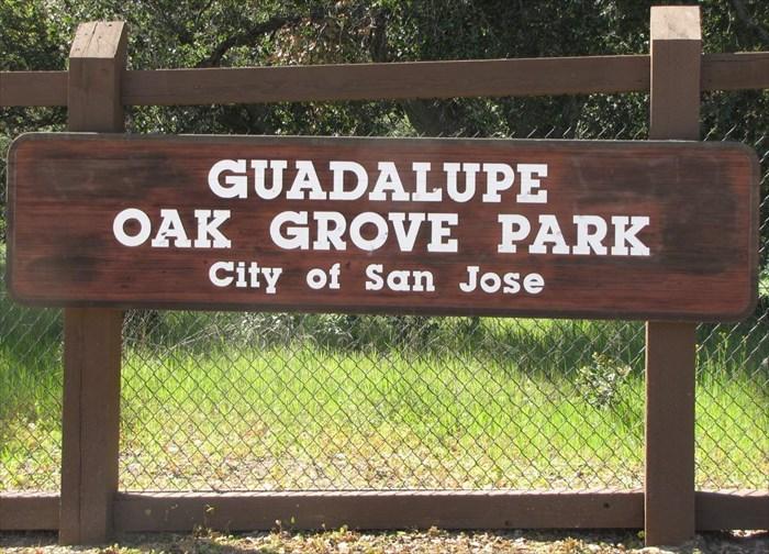 Guadalupe Oak Grove Park sign (1)